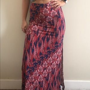 Forever 21 Patterned Maxi Skirt